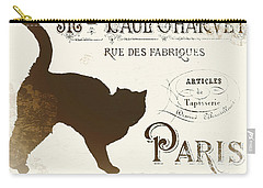 Chat Noir Paris Carry-all Pouch by Mindy Sommers