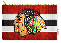 Chicago Blackhawks Barn Door Carry-all Pouch by Dan Sproul