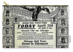 Chicago Cub Poster Carry-all Pouch by Jon Neidert