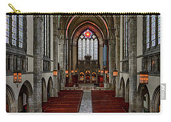 Chicago Rockefeller Chapel Carry-all Pouch by Mike Burgquist