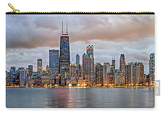 Chicago Skyline At Dusk Carry-all Pouch by James Udall