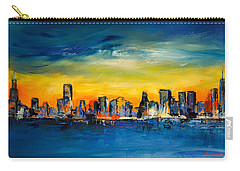 Chicago Skyline Carry-all Pouch by Elise Palmigiani