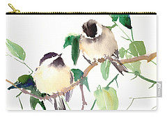 Chickadees Carry-all Pouch by Suren Nersisyan