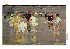 Children On The Beach Carry-all Pouch by Edward Henry Potthast