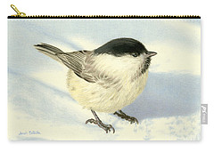 Chilly Chickadee Carry-all Pouch by Sarah Batalka