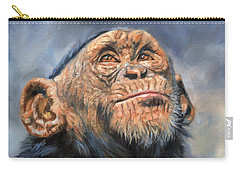 Chimp Carry-all Pouch by David Stribbling
