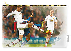 Chris Smalling  In Action  Carry-all Pouch by Don Kuing
