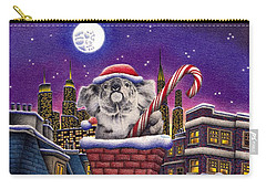 Christmas Koala In Chimney Carry-all Pouch by Remrov