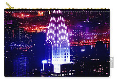 Chrysler Building At Night Carry-all Pouch by Az Jackson