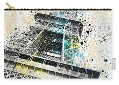 City-art Paris Eiffel Tower Iv Carry-all Pouch by Melanie Viola