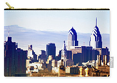 City Skyline Philadelphia Carry-all Pouch by Bill Cannon