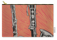 Clarinet And Giant Boehm Bass Carry-all Pouch by American School