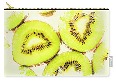 Close Up Of Kiwi Slices Carry-all Pouch by Jorgo Photography - Wall Art Gallery