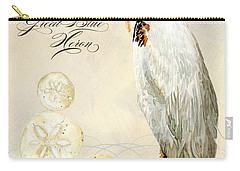 Coastal Waterways - Great Blue Heron Carry-all Pouch by Audrey Jeanne Roberts
