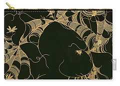 Cobwebs And Insects Carry-all Pouch by Japanese School