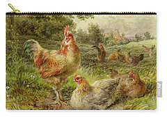 Cochin China Fowls Carry-all Pouch by George Hickin