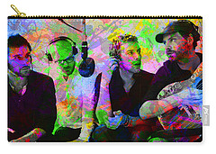 Coldplay Band Portrait Paint Splatters Pop Art Carry-all Pouch by Design Turnpike