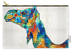 Colorful Camel Art By Sharon Cummings Carry-all Pouch by Sharon Cummings