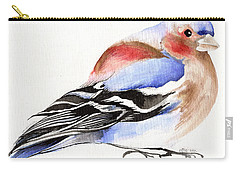 Colorful Chaffinch Carry-all Pouch by Nancy Moniz