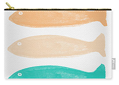 Colorful Fish Carry-all Pouch by Linda Woods