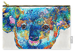 Colorful Koala Bear Art By Sharon Cummings Carry-all Pouch by Sharon Cummings