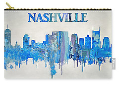 Colorful Nashville Skyline Silhouette Carry-all Pouch by Dan Sproul