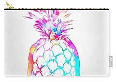 Colorful Pineapple Carry-all Pouch by Dan Sproul