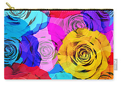 Colorful Roses Design Carry-all Pouch by Setsiri Silapasuwanchai
