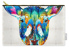 Colorful Sheep Art - Shear Color - By Sharon Cummings Carry-all Pouch by Sharon Cummings