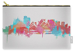 Colorful Sydney Skyline Silhouette Carry-all Pouch by Dan Sproul