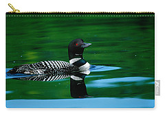 Common Loon In Water, Michigan, Usa Carry-all Pouch by Panoramic Images