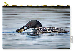 Common Loon Square Carry-all Pouch by Bill Wakeley