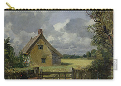 Cottage In A Cornfield Carry-all Pouch by John Constable