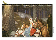 Country Folk Wending Their Way To The Tourney Carry-all Pouch by Newell Convers Wyeth