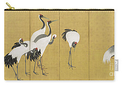 Cranes Carry-all Pouch by Maruyama Okyo