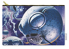 Creatures In Outer Space  Carry-all Pouch by Wilf Hardy