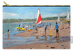 Cricket And Red And White Sail Carry-all Pouch by Andrew Macara