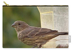 Crossbill Female Portrait      September    Indiana Carry-all Pouch by Rory Cubel
