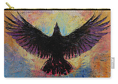 Crow Carry-all Pouch by Michael Creese