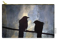 Crows And Sky Carry-all Pouch by Carol Leigh