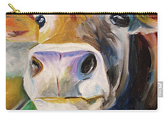 Curious Cow Carry-all Pouch by Donna Tuten