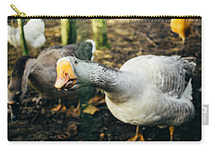 Curious Grey Goose Carry-all Pouch by Pati Photography