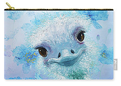 Curious Ostrich Carry-all Pouch by Jan Matson