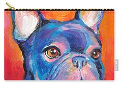 Cute French Bulldog Painting Prints Carry-all Pouch by Svetlana Novikova