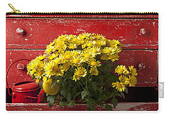 Daisy Plant In Drawers Carry-all Pouch by Garry Gay