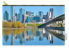 Dallas Above The Trinity River Carry-all Pouch by Frozen in Time Fine Art Photography
