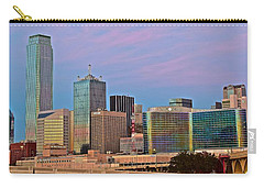 Dallas At Dusk Carry-all Pouch by Frozen in Time Fine Art Photography
