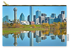 Dallas Mirror Image Carry-all Pouch by Frozen in Time Fine Art Photography