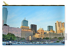 Dallas Skyline Pano Carry-all Pouch by Frozen in Time Fine Art Photography