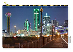 Dallas Street And Lights Carry-all Pouch by Frozen in Time Fine Art Photography